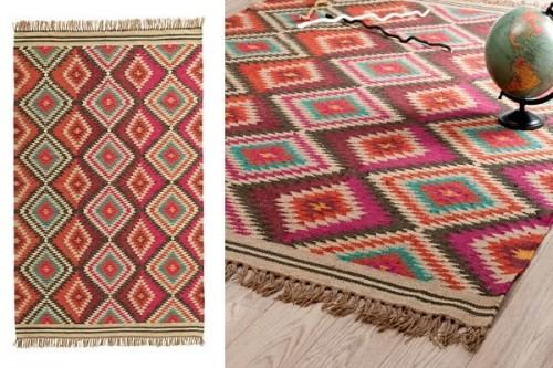 tapis tresse en laine motifs ethniques maisons du monde. Black Bedroom Furniture Sets. Home Design Ideas