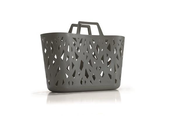 Idée cadeau de Noël pratique, un panier gris anthracite design.