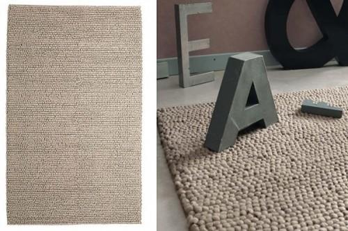 un tapis en laine beige tout doux maisons du monde |