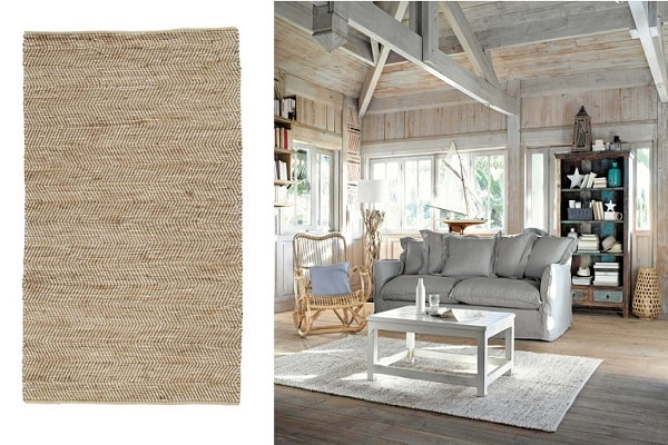 un tapis en toile de jute beige chez maisons du monde. Black Bedroom Furniture Sets. Home Design Ideas