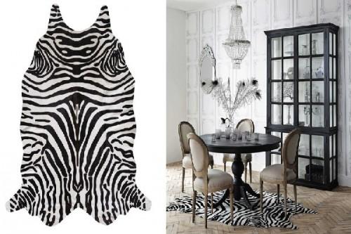 un tapis zebre exotique deco safari chez maisons du monde. Black Bedroom Furniture Sets. Home Design Ideas