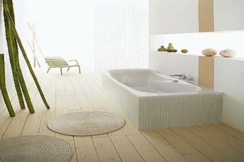 Une baignoire sabot rectangulaire allia for Peindre une baignoire en email
