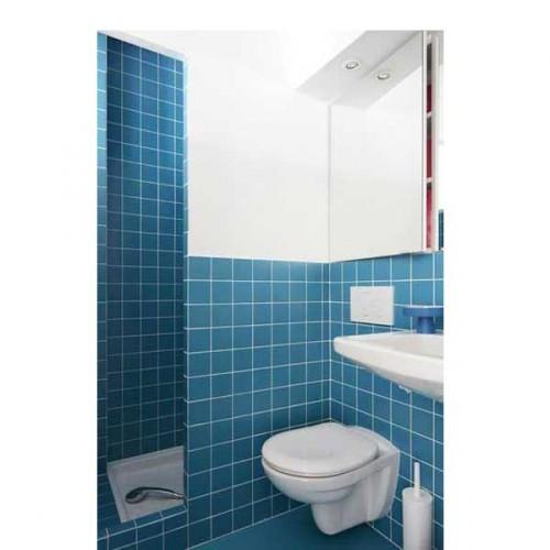 15 petites salles de bains pleines d 39 id es d co deco cool - Salle de bain blanche et bleu ...