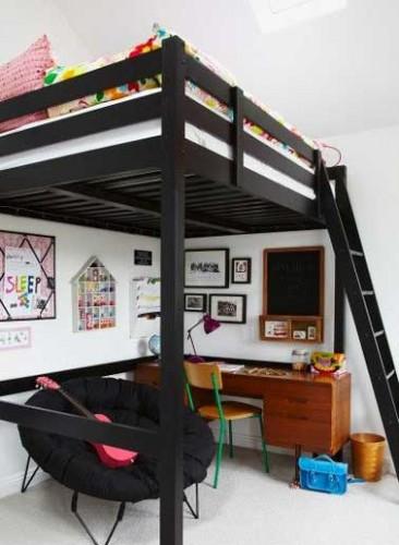 La chambre d 39 ado fille soigne son ambiance d co for Chambre ado avec lit mezzanine