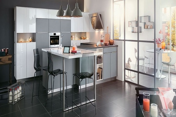 cuisine am ricaine des id es pour un am nagement ouvert. Black Bedroom Furniture Sets. Home Design Ideas