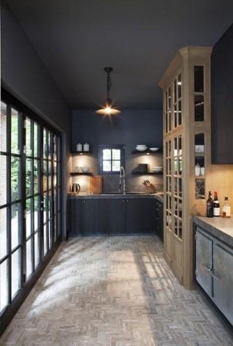 peinture cuisine en gris anthracite pour peindre plafond et murs. Black Bedroom Furniture Sets. Home Design Ideas