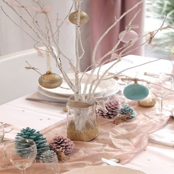 Decoration table de noel fait main for Deco de noel