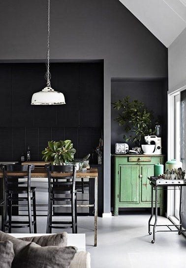 cuisine vert d eau et gris divers besoins de cuisine. Black Bedroom Furniture Sets. Home Design Ideas