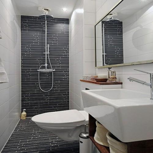 Salle de bain en longueur maison design for Amenagement petite salle de bain en longueur