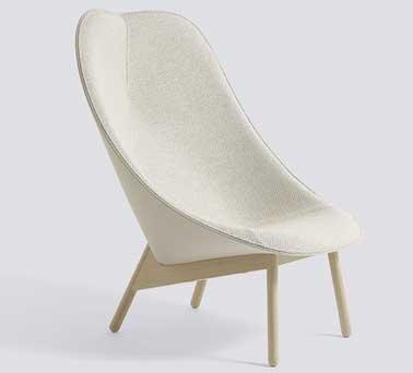 Formes généreuses et coque englobante isolante pour ce petit fauteuil au look zen. Fauteuil Uchiwa Hay, Conception Doshi Levien. Prix 1594€ Blou Paris