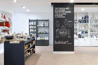 Dans son nouveau pop up store Habitat propose 485m² de déco design à la française. Meubles, linge de table, luminaires, trouvez des idées déco en plein Paris