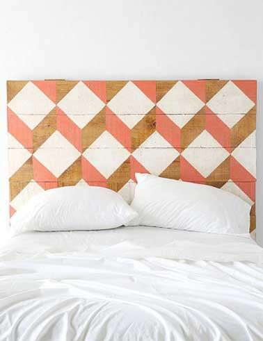 Diy d co on fait une t te de lit originale deco cool - Peindre une tete de lit ...