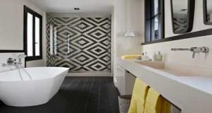 carreaux de cuir decoratifs pour mur et tete de lit With carrelage adhesif salle de bain avec canapé design avec led