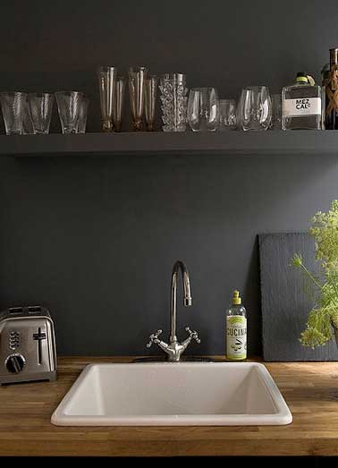 La cr dence inspire des id es d co pour la cuisine - Credence en miroir pour cuisine ...