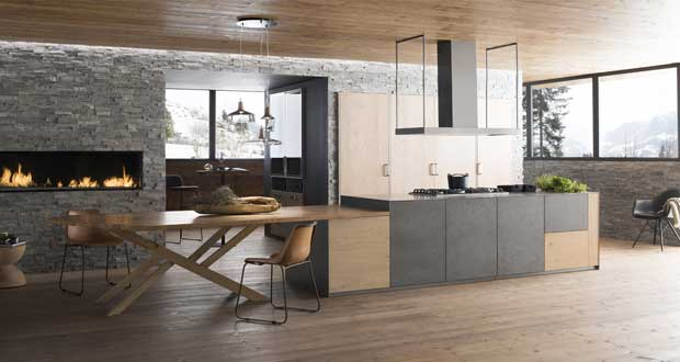 cuisine ouverte sur salon id es d co d 39 am nagement cuisine. Black Bedroom Furniture Sets. Home Design Ideas