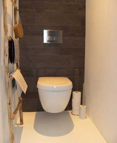 D co wc suspendu moderne - Deco toilettes taupe ...