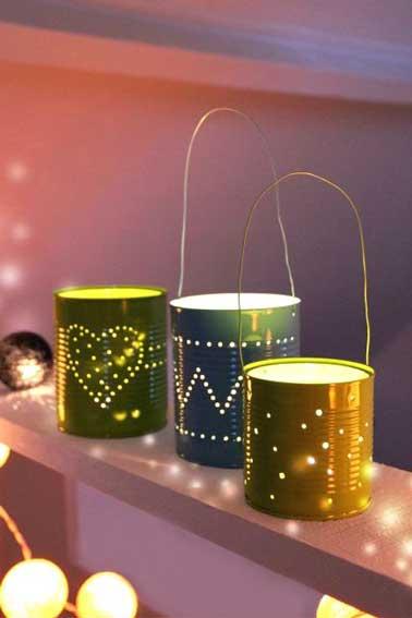 Fabriquer des lanternes de no l avec des bo tes de conserve - Deco de noel avec de la recup ...