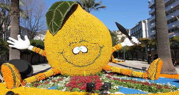En 2016 la fête du citron de Menton rend honneur au cinéma italien. L'occasion de décorer la ville aux couleurs des agrumes avec un programme riche et original