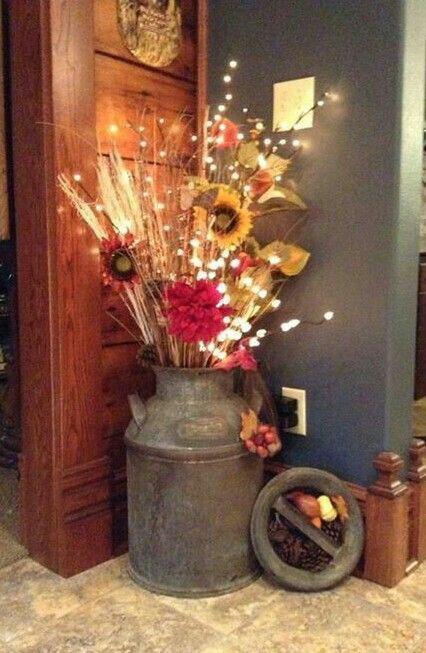 Des fleurs s ch es d cor es de guirlandes - Decoration de terrasse avec pots de fleurs ...