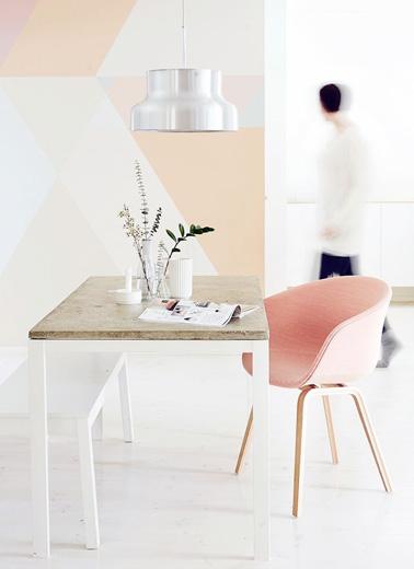 jeu de couleurs pastel pour la d co peinture salon. Black Bedroom Furniture Sets. Home Design Ideas