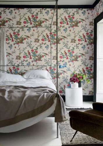 papier peint la tendance 2016 avec le papier little greene. Black Bedroom Furniture Sets. Home Design Ideas