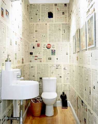 10 fa ons d 39 arranger la d co de ses wc deco cool - Comment tapisser un mur ...