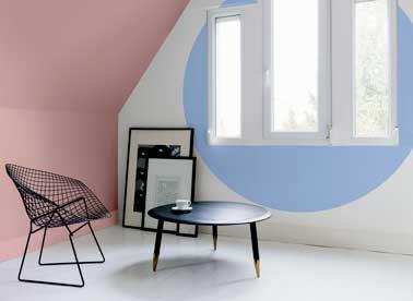 Peinture couleur pastel salon rose et bleu de tollens for Peinture couleur pastel
