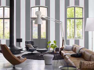 Peinture gris anthracite et gris perle deux couleurs d co for Salon cuir moderne design