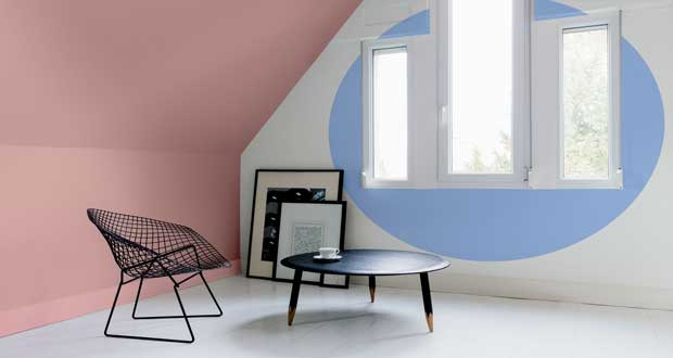 peinture tollens rose quartz et serenity couleur 2016. Black Bedroom Furniture Sets. Home Design Ideas