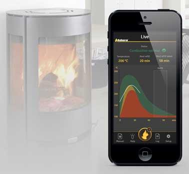 Contrôlez votre poêle à bois à distance depuis un smartphone ou une tablette avec cette appli. Pratique pour une bonne utilisation. Appli Aduro smart response.