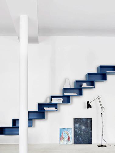 Un escalier aux rangements astucieux et design for Rangement astucieux
