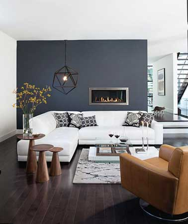 salon cocooning couleur gris anthracite et blanc couvrant. Black Bedroom Furniture Sets. Home Design Ideas