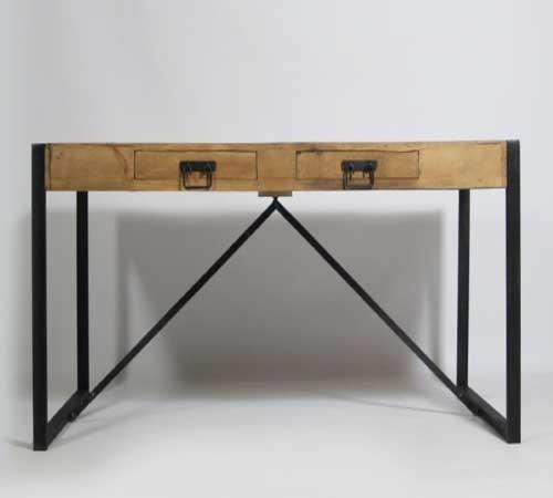 Des meubles de cuisine industrielle top tendance deco cool for Table cuisine bois exotique
