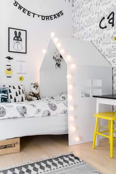 Une t te de lit maison pour une chambre de petite fille - Tete de lit maison ...
