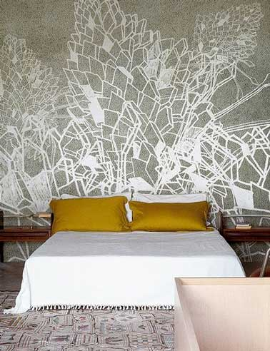 Diy d co on fait une t te de lit originale deco cool for Dessin sur mur peinture