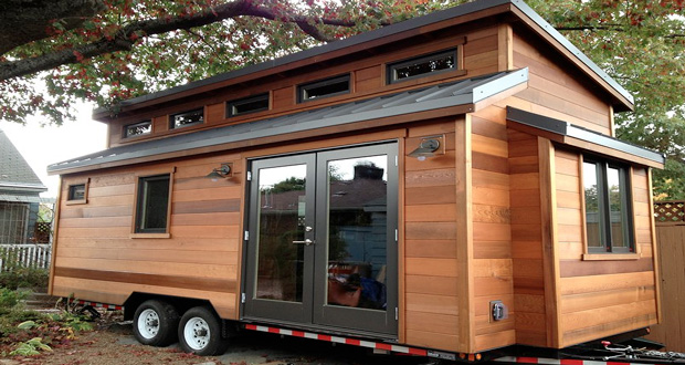 Tiny house l 39 art de se loger colo un prix plancher for Maison en bois mobile