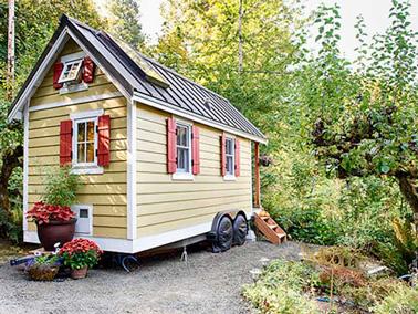 La «tiny house» une petite maisonnette très tendance, 100% écolo et mobile, pour faire face aux prix élevés des loyers et idéale pour partir en vacances