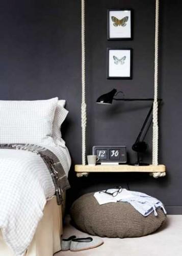 Un chevet d co original faire soi m me pour la chambre for Fabriquer un valet de chambre