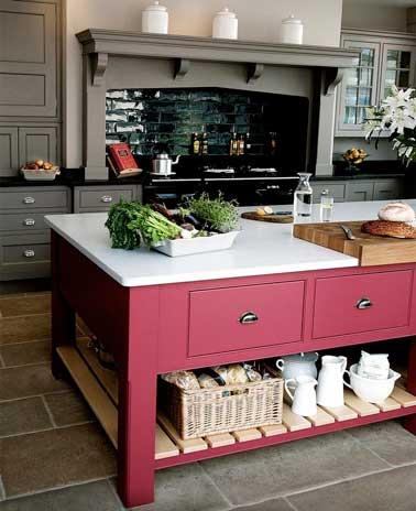 Quelle couleur mettre avec une cuisine grise - Quelle couleur pour donner de la profondeur a une piece ...