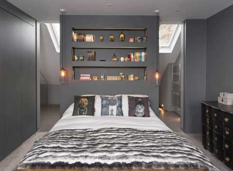 une cloison de suite parentale en t te de lit. Black Bedroom Furniture Sets. Home Design Ideas