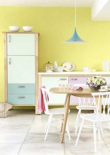 3 peintures mat pour repeindre ses meubles de cuisine - Peinture pour meubles de cuisine en bois verni ...