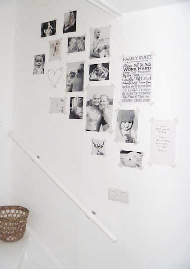Diy d co comment accrocher des photos avec style - Faire un mur de photos decoration ...