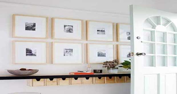 Diy d co comment accrocher des photos avec style - Faire un mur de tableaux ...