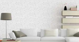 un l de papier peint donne des couleurs la chambre blanche
