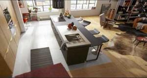 Envie d'une cuisine américaine au top ? Aménagement et plans de cuisine ouverte ultra déco avec des meubles rouges, blanc, gris pour une cuisine ouverte, les couleurs et styles déco cuisine ouvertes sont infinis