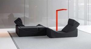 Des Fauteuils et canapés qui se combinent à volonté, un concept de meuble original pour aménager son salon. Des meubles design aux couleurs tendances modulables de la collection Lina Lappad