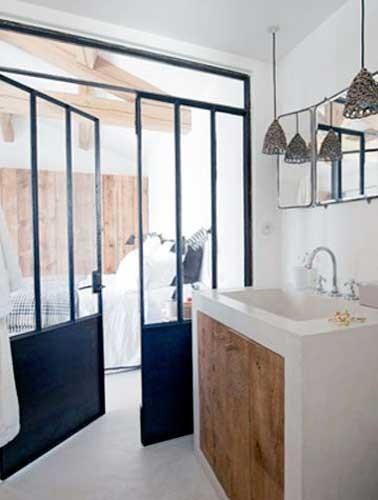 Cloison verri re loft pour s paration de suite parentale for Cloison separation chambre salle de bain