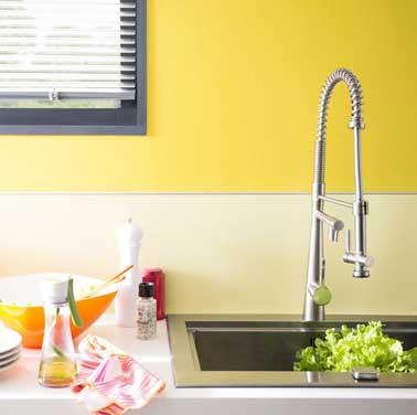Une couleur jaune pour une d co p tillante for Cuisine moderne jaune