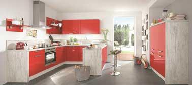 Cuisine am ricaine aviva style contemporain rouge for Cuisine americaine rouge