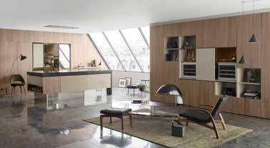 cuisine ouverte perene mod le open line en bois clair. Black Bedroom Furniture Sets. Home Design Ideas